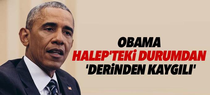Obama Halep'teki durumdan 'derinden kaygılı'