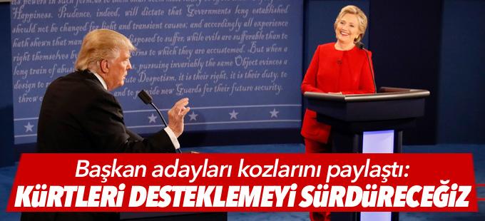 Adaylar arasında düello: Kürt ortaklarımızı desteklemeyi sürdüreceğiz