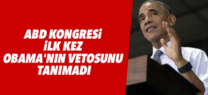 ABD Kongresi ilk kez Obama'nın vetosunu tanımadı