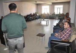 Belediye personeline iş sağlığı ve güvenliği eğitimi verildi.