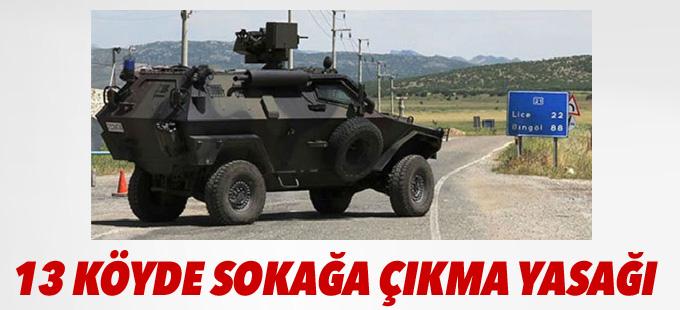 Diyarbakır'da 13 köyde sokağa çıkma yasağı