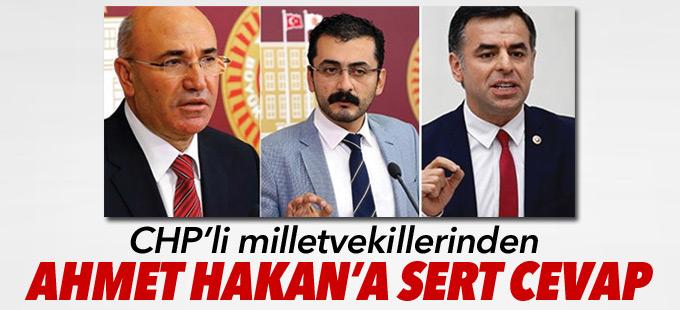CHP'li milletvekillerinden Ahmet Hakan'a sert cevap