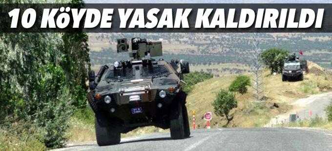Diyarbakır'da 10 köyde sokağa çıkma yasağı kaldırıldı