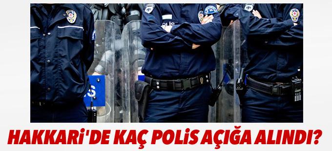 Hakkari'de kaç polis açığa alındı?
