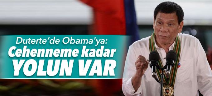Filipinler liderinden Obama'ya: Cehenneme kadar yolun var