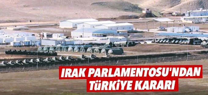 Irak Parlamentosu'ndan Türkiye kararı