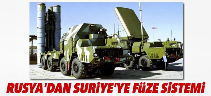 Rusya'dan Suriye'ye S-300 füze sistemi