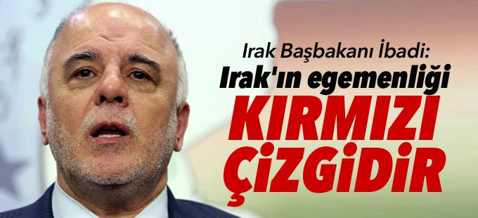 İbadi: Irak'ın egemenliği kırmızı çizgidir