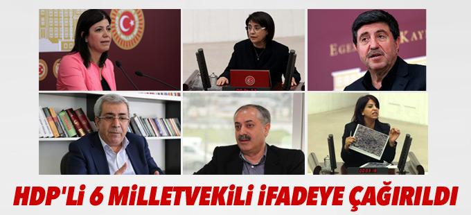Altan Tan, Leyla Zana ve HDP'li 4 milletvekili daha ifadeye çağırıldı