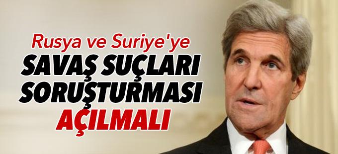 ABD: Rusya ve Suriye'ye savaş suçları soruşturması açılmalı