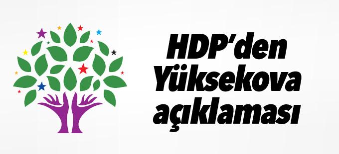 HDP'den Yüksekova açıklaması