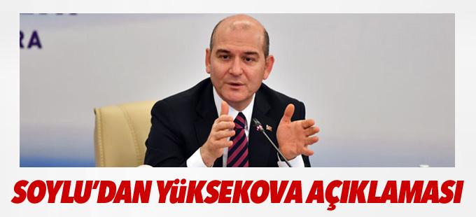 Bakan Soylu'dan Yüksekova açıklaması