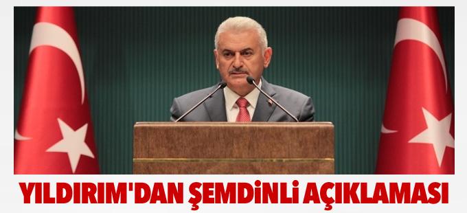 Başbakan Yıldırım'dan Şemdinli açıklaması