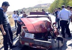 Kahta'da trafik kazası: 1 ağır yaralı