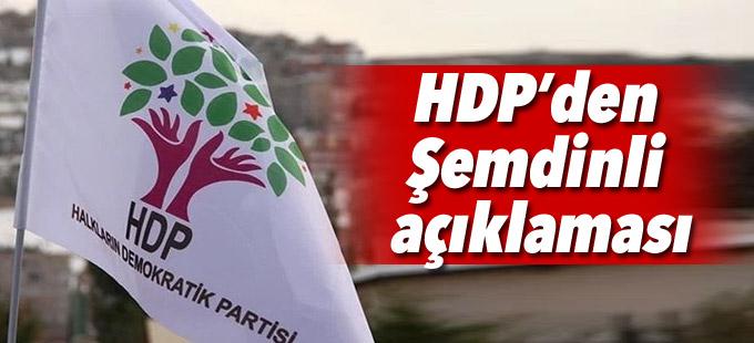 HDP'den Şemdinli açıklaması