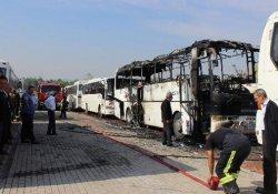 Onlarca otobüs yanmaktan son anda kurtarıldı