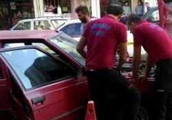Otomobilin LPG deposundaki gaz kaçağı korkuttu