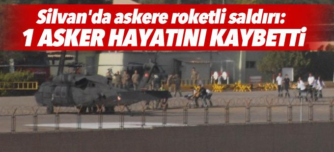 Silvan'da askere roketli saldırı: 1 asker hayatını kaybetti, 5 yaralı