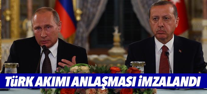 Erdoğan-Putin görüşmesi sonrası 'Türk Akımı Projesi' imzalandı