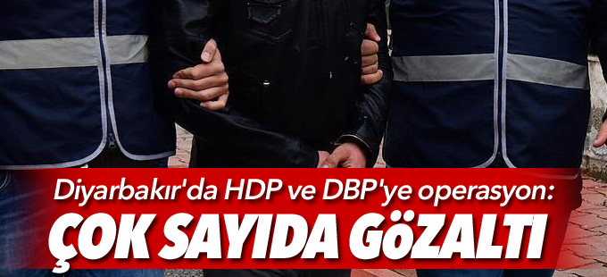 Diyarbakır'da DBP ve HDP'li il ve ilçe eşbaşkanları gözaltında