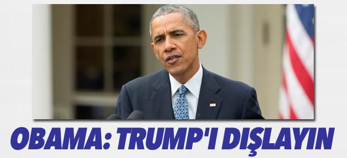 Obama'dan Cumhuriyetçilere çağrı: Trump'ı dışlayın
