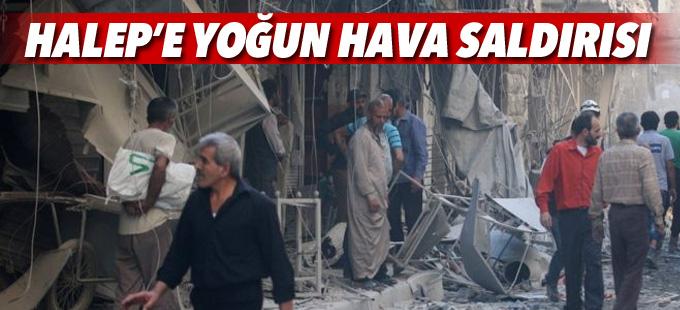 Halep'e yoğun hava saldırıları yeniden başladı
