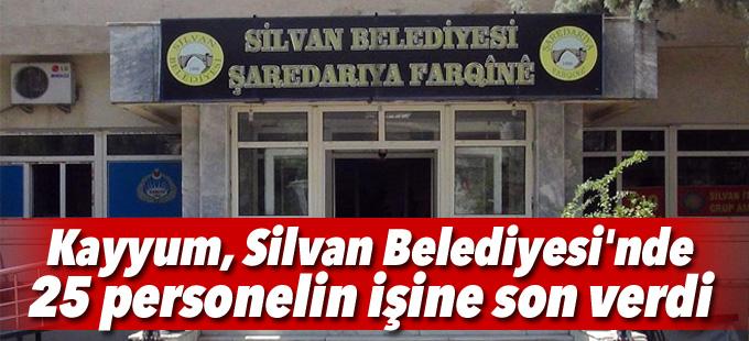 Kayyum, Silvan Belediyesi'nde 25 personelin işine son verdi
