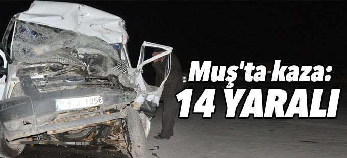 Muş'ta kaza: 14 yaralı