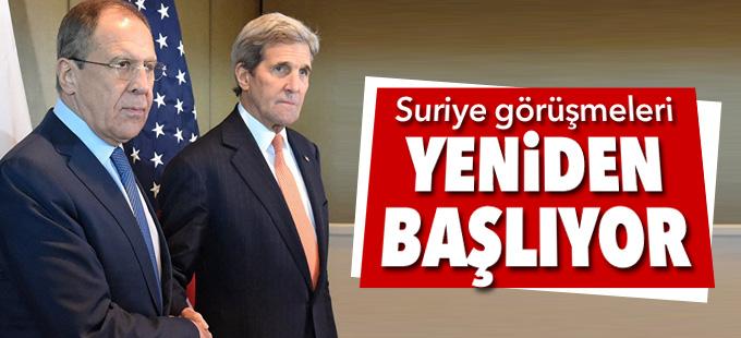 ABD ve Rusya, Suriye görüşmelerine yeniden başlıyor