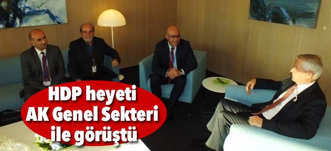 HDP heyeti AK Genel Sekteri ile görüştü