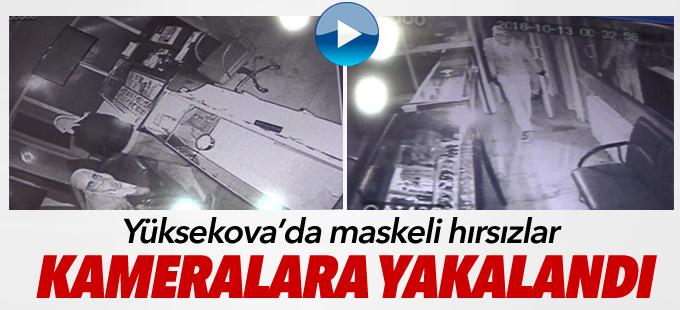Yüksekova'da maskeli hırsızlar kameralara yakalandı