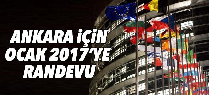 Ankara için Ocak 2017'ye randevu