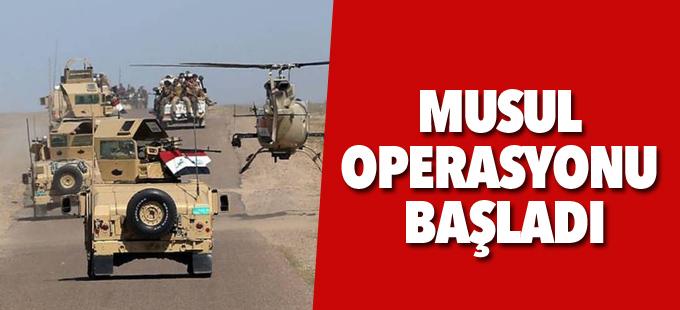 Musul operasyonu başladı