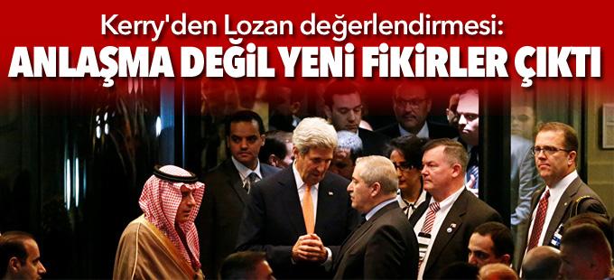 Kerry'den Lozan değerlendirmesi: Anlaşma değil yeni fikirler çıktı