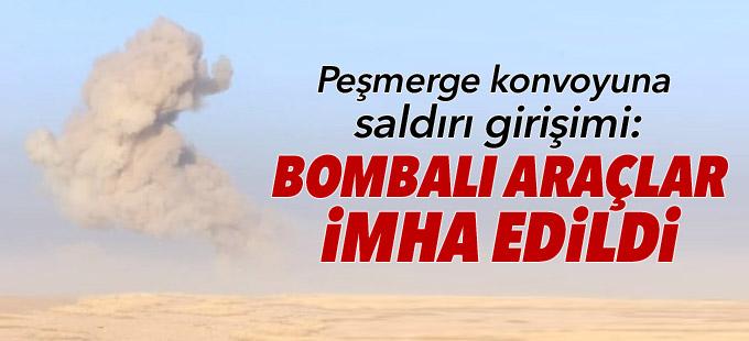 Peşmerge konvoyuna saldırı girişimi: Bombalı araçlar havaya uçuruldu