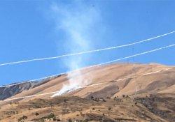 Berçelan Yaylası'nda anız yangını