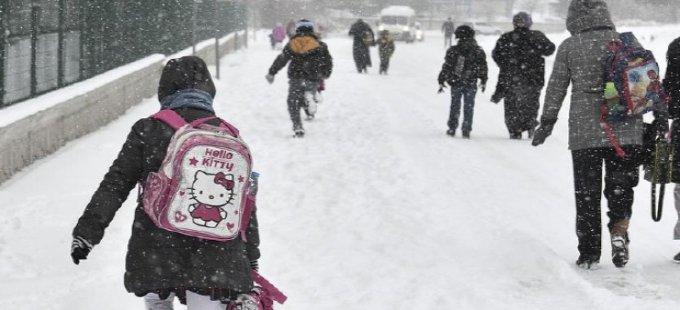 Şemdinli'de taşımalı eğitime kar tatili