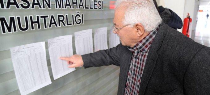Seçmen listeleri asıldı
