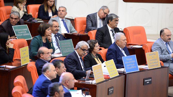HDP'den Meclis'te protesto