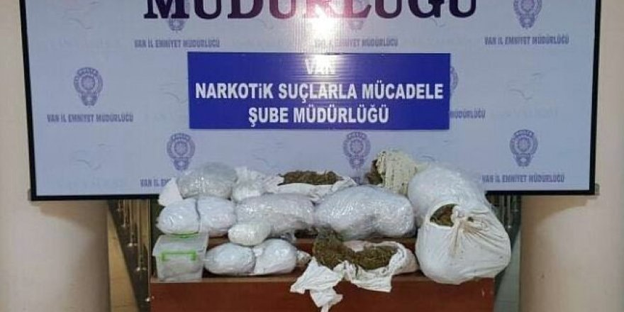 Van'da 35 kilo uyuşturucu ele geçirildi