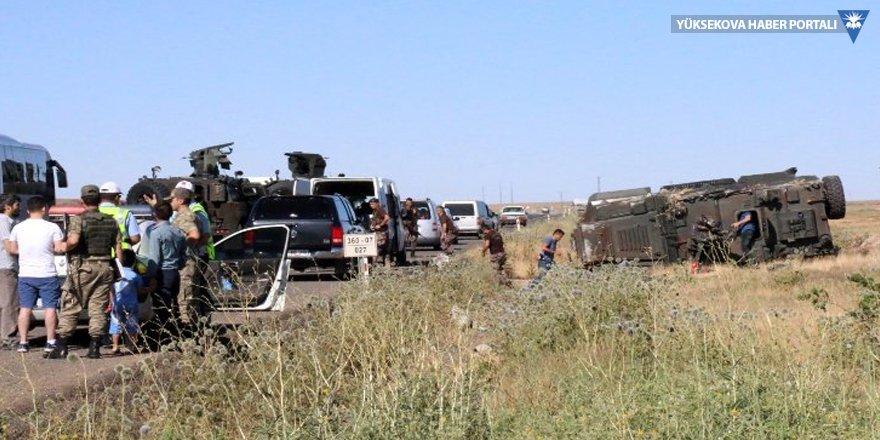 Şanlıurfa'da zırhlı araç devrildi