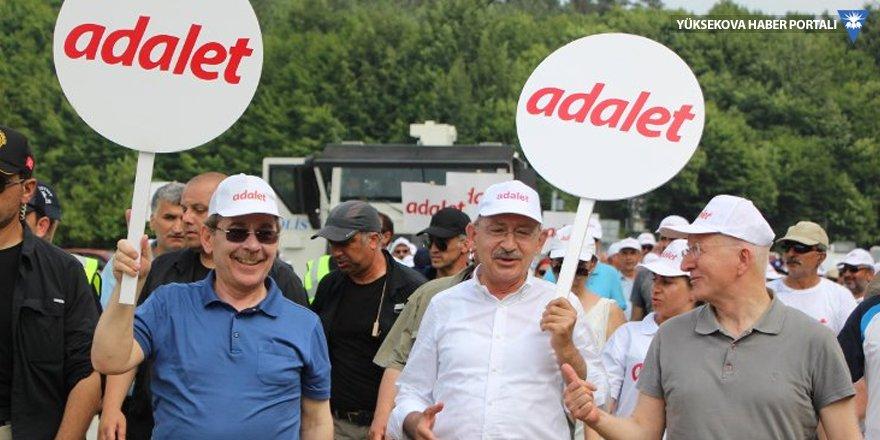 Kaboğlu ve Şener, Adalet Yürüyüşü'nde