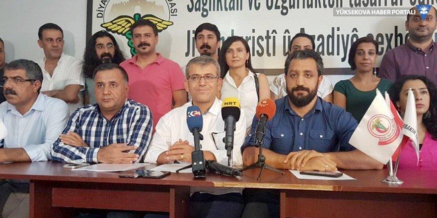 Diyarbakır'da meslek örgütlerinden gözaltı tepkisi