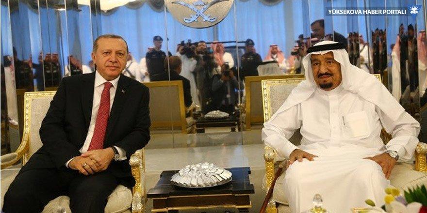 Kral Salman, Cumhurbaşkanı Erdoğan'la havalimanında görüştü