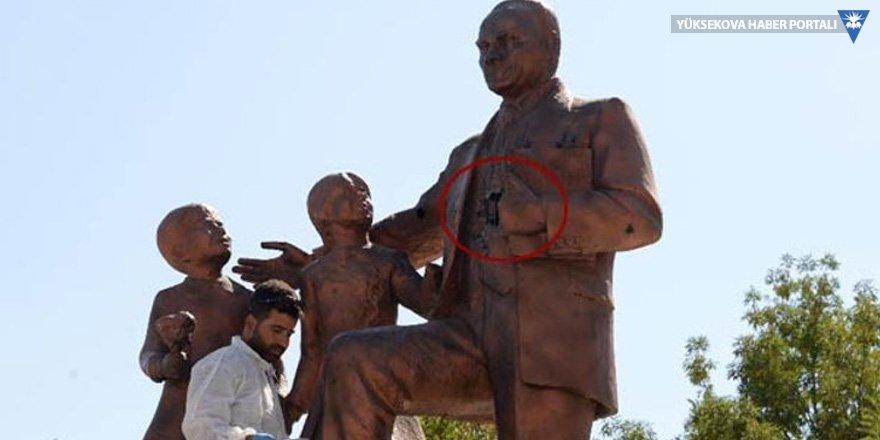 Atatürk heykeline saldıran zanlı tutuklandı