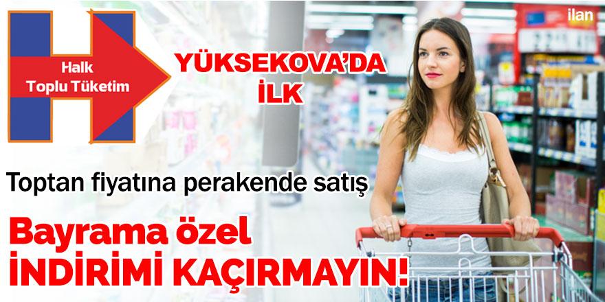 Yüksekova Halk AVM Bayrama Özel indirimler