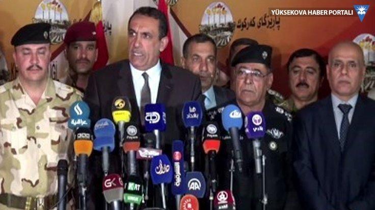 Kerkük polis müdürünün Kürtçe konuşmasına engel