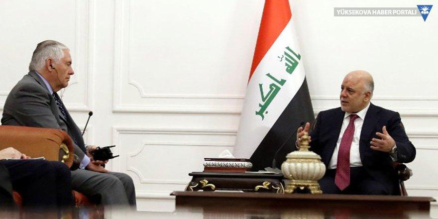 Tillerson 'Kerkük', Abadi 'Haşdi Şabi' dedi!