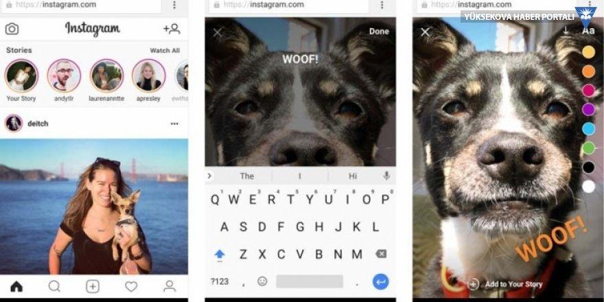 Instagram'a masaüstü bilgisayardan hikaye eklenebilecek