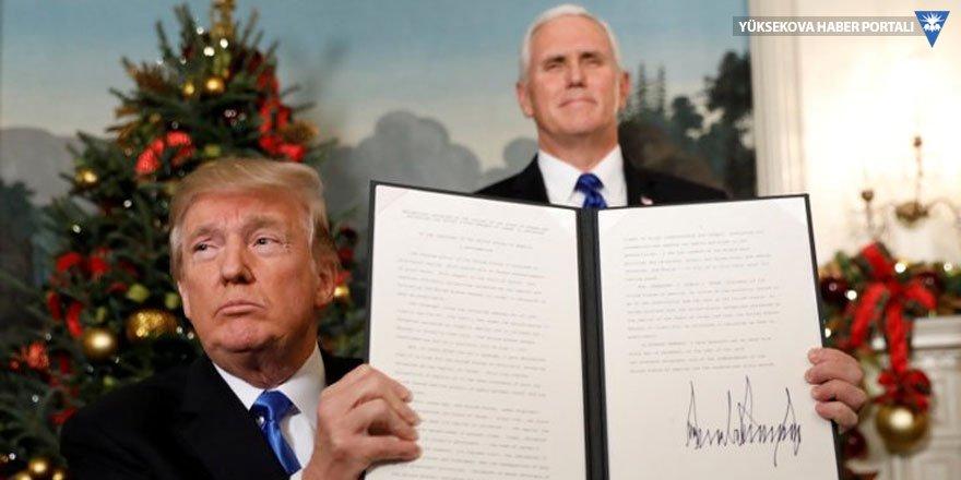 Trump Kudüs'ü İsrail'in başkenti olarak tanıdı